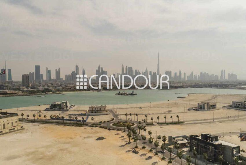 Aerial view of Dubai from Pearl Jumeirah, United Arab Emirates